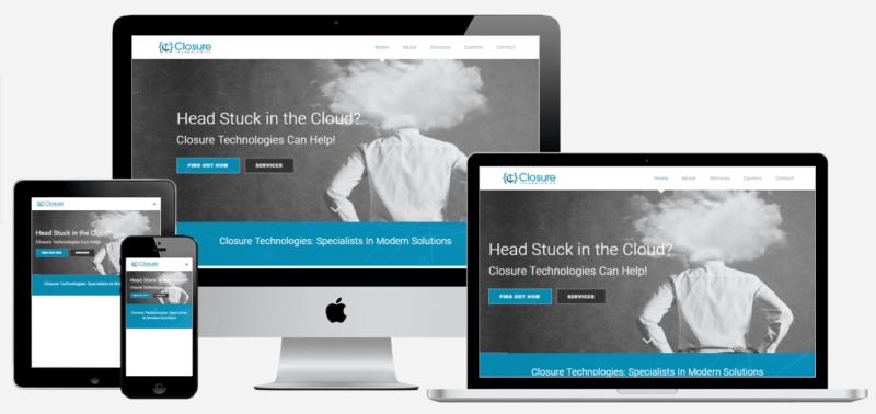 Closure Technologies Custom Website
