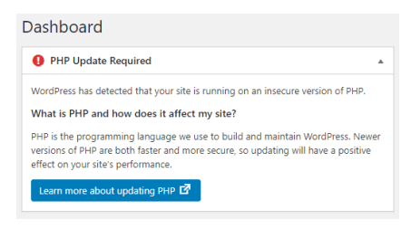 Secure your WordPress Site by Updating your PHP 3